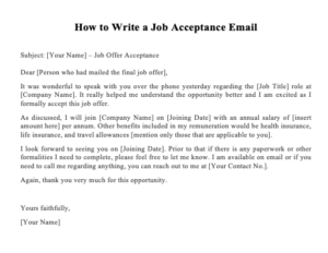 How to Write a Job Acceptance Email
