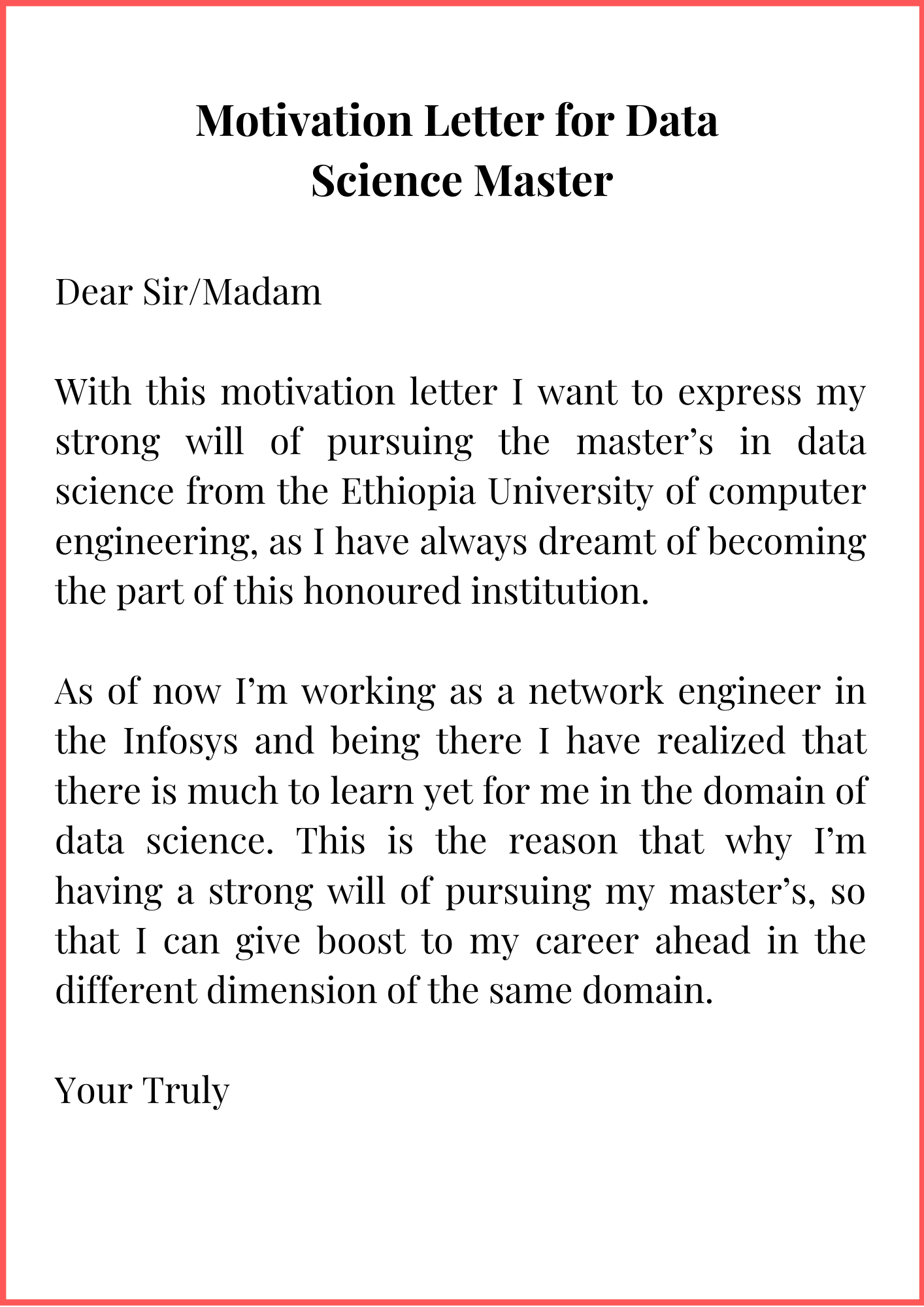 Motivation Letter for Masters Degree in Data Science | Top ...