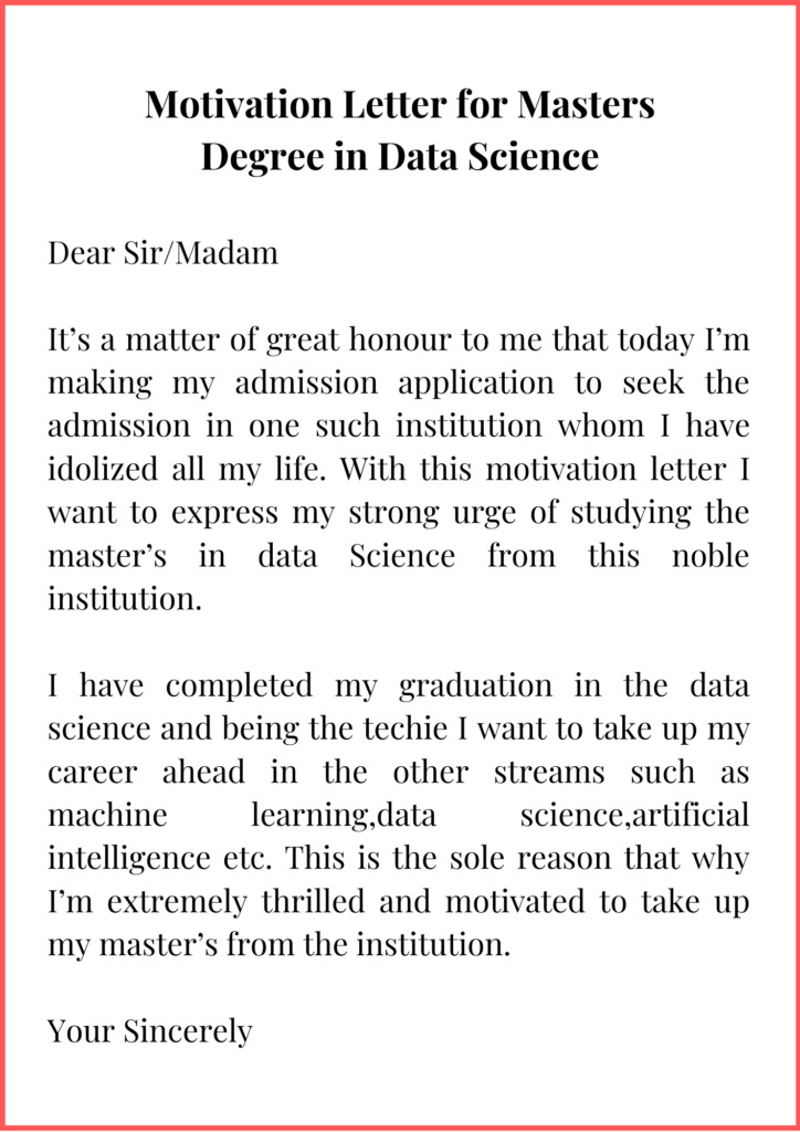 Motivation Letter for Masters Degree in Data Science (1)
